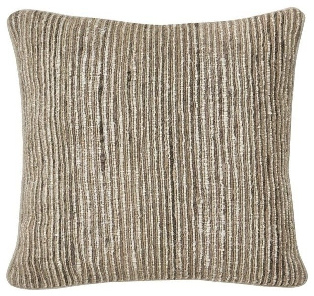 Throw Pillows Tan : Ashley Avari Throw Pillow, Tan and Taupe - Contemporary - Decorative Pillows - by Homesquare