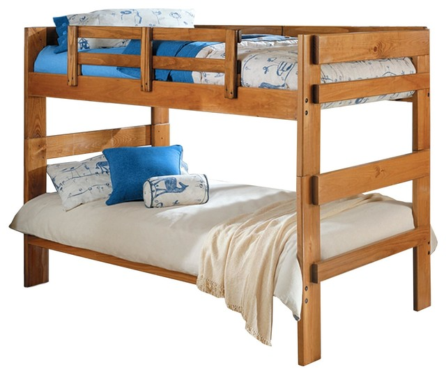 Heartland Twin Over Wooden Bunkbed Pine 56h Traditional Bunk