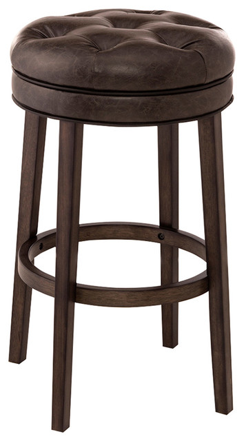 Krauss Backless Swivel Counter Stool Transitional Bar
