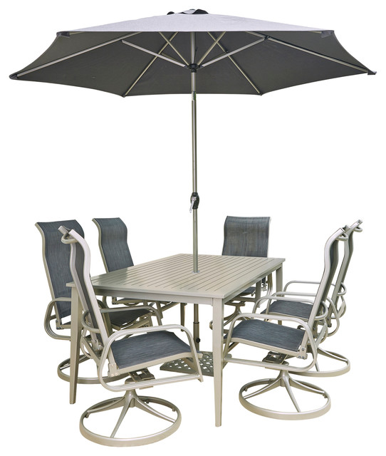 South Beach 9-Piece Rectangular Outdoor Dining Set.