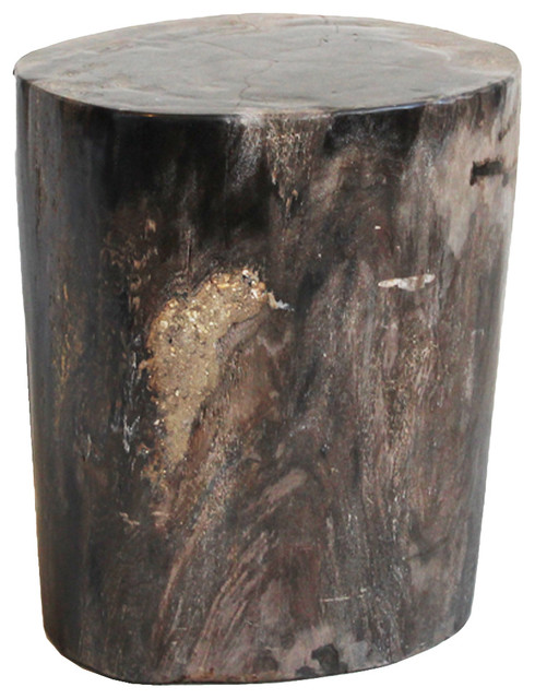 Petrified Wood Side Table Rustic Side Tables And End Tables By Design Mix Furniture