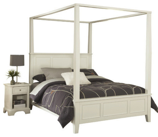 naples white king canopy bed and nightstand bedroom furniture sets