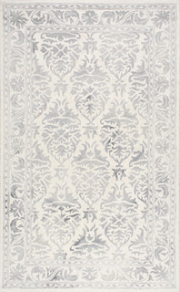 Nuloom 86x116 Hand Looped Krause Rug In Light Gray Transitional Area Rugs