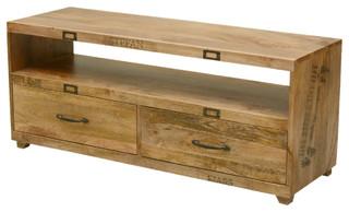 Tiny Hands Mango Wood Handmade TV Table Media Island w Drawers ...