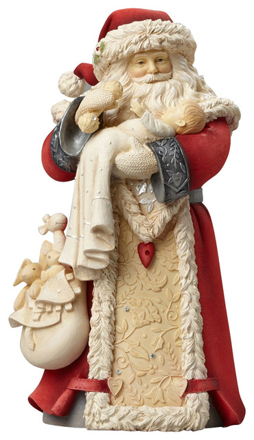 Enesco Heart of Christmas Santa With Baby Figurine - Traditional ...