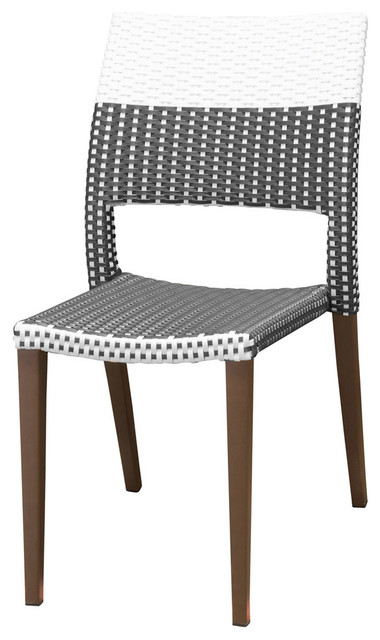 Sensational Chloe Side Chair Espresso And White Caraccident5 Cool Chair Designs And Ideas Caraccident5Info