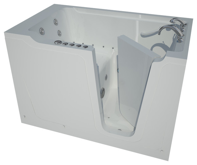 36 X 60 Whirlpool & Air Jetted Walk-In Bathtub, Right Drain Configuration.