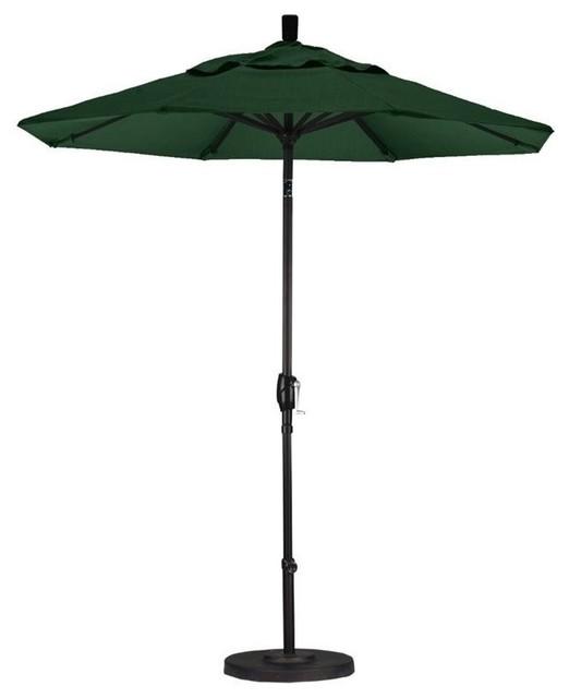 California Umbrella 7.5u0027 Market Patio Umbrella, Hunter Green