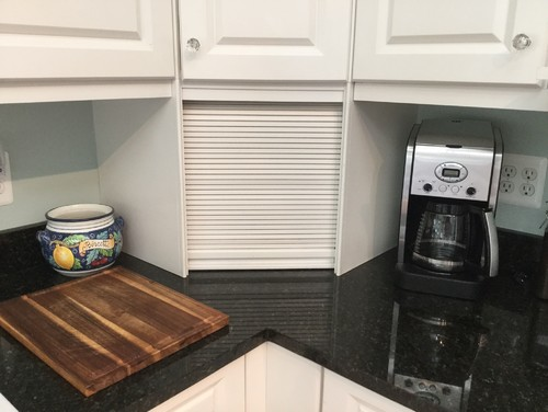 Replacing granite countertop with existing cabinets sitting on top