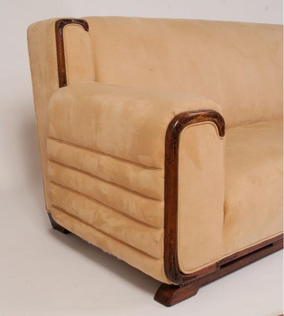 Art deco style sofa art deco sofa bed swedish curvedback for Art deco style sofa