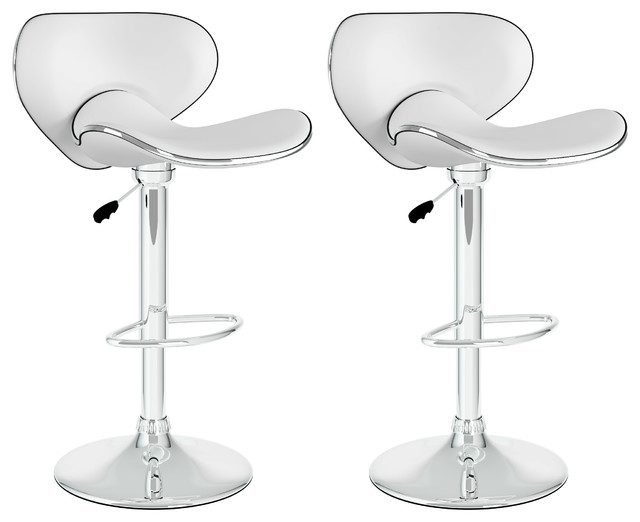 white adjustable bar stools