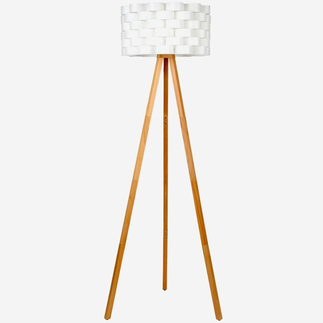 Brightech Bijou LED Tripod Floor Lamp for Modern Living Rooms