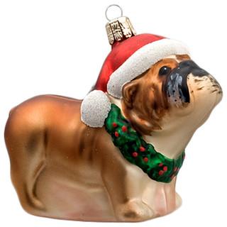 Bulldog Ornament - Contemporary - Christmas Ornaments - by GLASSOR US