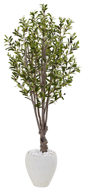 5 ft. Olive Artificial Tree in Green