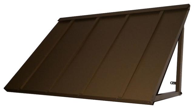 "Awntech&x27;s 4&x27; Houstonian Metal Standing Seam Awning, 56"" Wx24"" Hx36"" D Bronze."