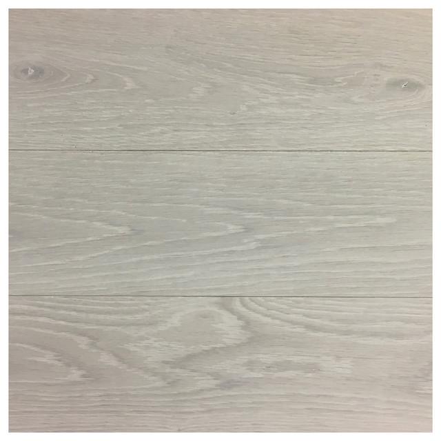 "The Portfolio, Wide Plank Hardwood Flooring Rustic Snowdrop, 21""x21""."