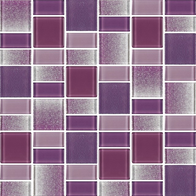 Fusion Purple Gl Mosaic Tile Contemporary By