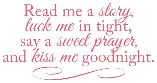 Decal Vinyl Wall Sticker Tuck Me In Say A Sweet Prayer Quote Contemporary Wall Decals By Design With Vinyl