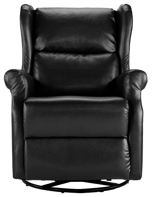 Classic Recliner Swivel Chair Faux Leather Reclining Armchair
