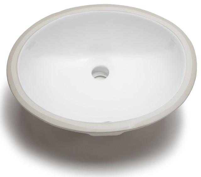 ... Small Oval Bowl Undermount White Bathroom Sink contemporary-bathroom