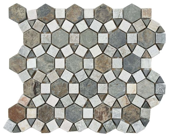 Ridge Aztec Stone Mosaic Floor And Wall Tile