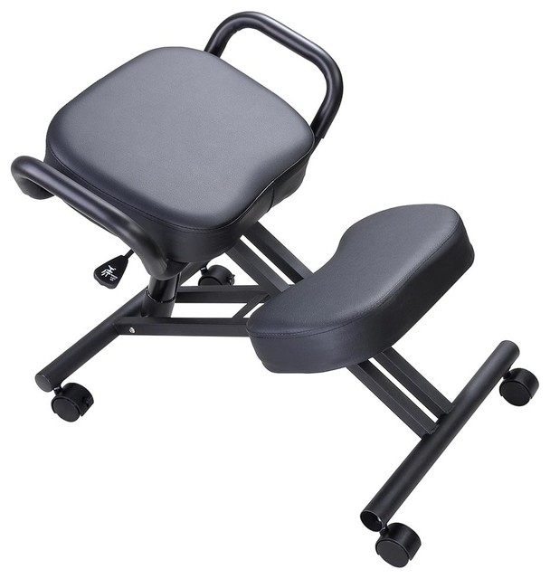 Ergonomic Kneeling Chair Adjustable Stool With Thick Seat