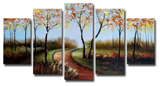 """romantic Pathway"" Canvas Painting, 60""x32""."