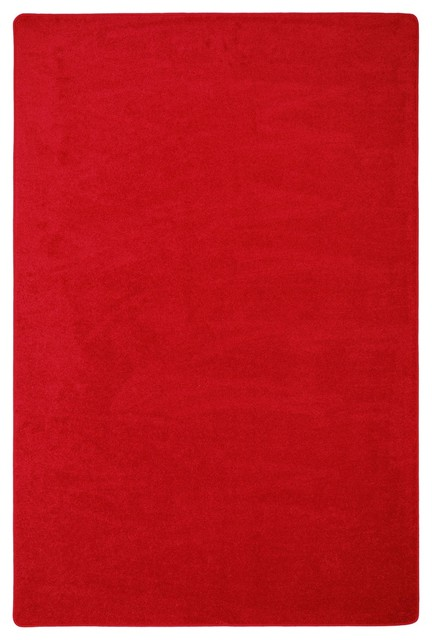 Kid Essentials Rug, Endurance, Red, 6&x27;x9&x27;.