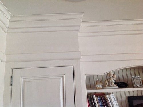 Cabinets moulding that goes to 9 ft ceiling for 9 inch crown molding
