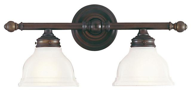 Feiss Bristol 2 Light Vanity Fixture In Oil Rubbed Bronze: New London Bathroom Vanity Lights