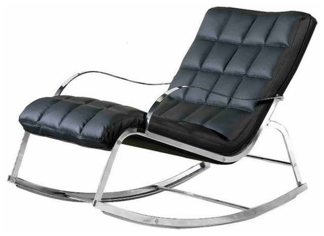 Chintaly Camry Rocker Lounge Chair Contemporary Rocking Chairs By Luxe