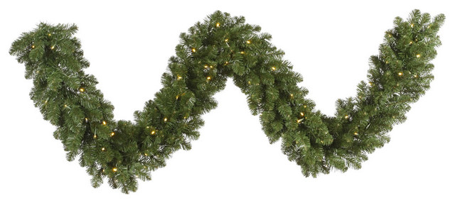 "Grand Teton Garland, 25'x18"", Warm White Led Lights"