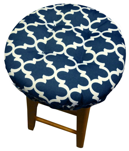 Fulton Ogee Navy Blue Bar Stool Cover IndoorOutdoor  : contemporary seat cushions from www.houzz.com size 550 x 640 jpeg 100kB