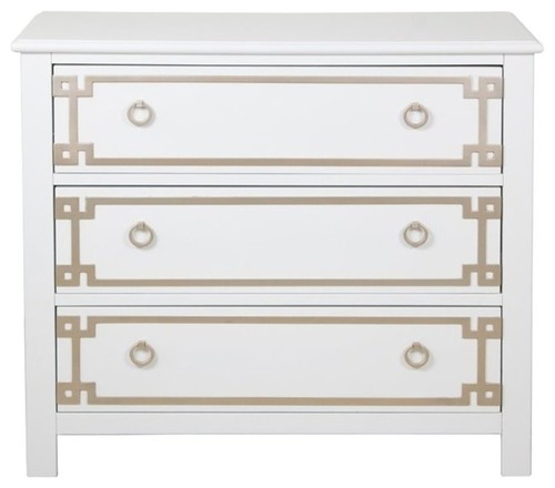 Pulaski Accentrics Home 3 Drawer Accent Chest in White