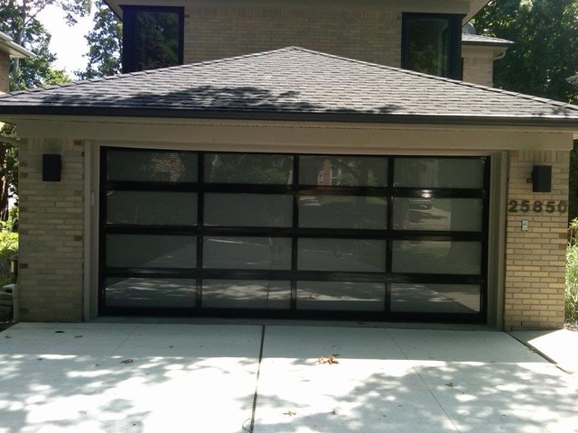 Example Of A Trendy Garage Design In Detroit