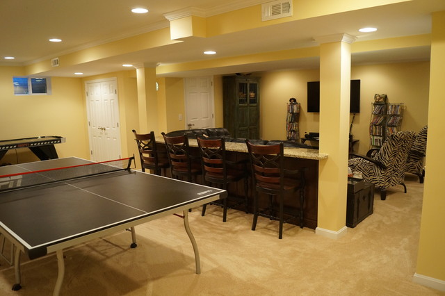 Example of a basement design in Cincinnati