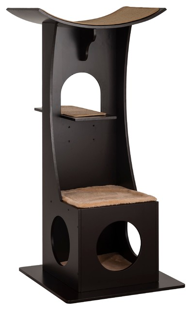 Cat Tree Box With Toy Rack Contemporary Cat Furniture