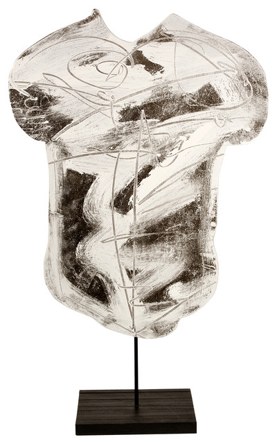 Contemporary Modern Abstract Sculpture, SILVER TORSO, by Charles Sabec, 2014.