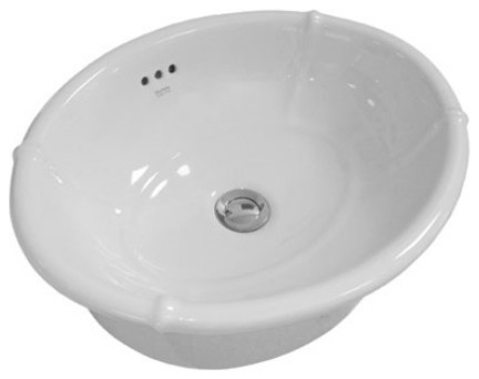 Empire White Drop-In Oval Ceramic Vessel Sink Bowl Sink Lavatory Washbasin.