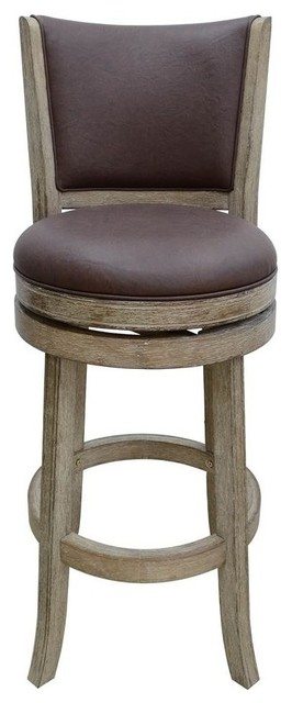 24 Quot Swivel Wire Brush Counter Stool In Weathered White