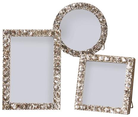 diamonds jeweled mini frames set of 3 contemporary picture frames - Mini Frames