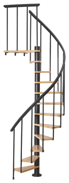 """Dolle Calgary Black 55"""" Spiral Staircase"""