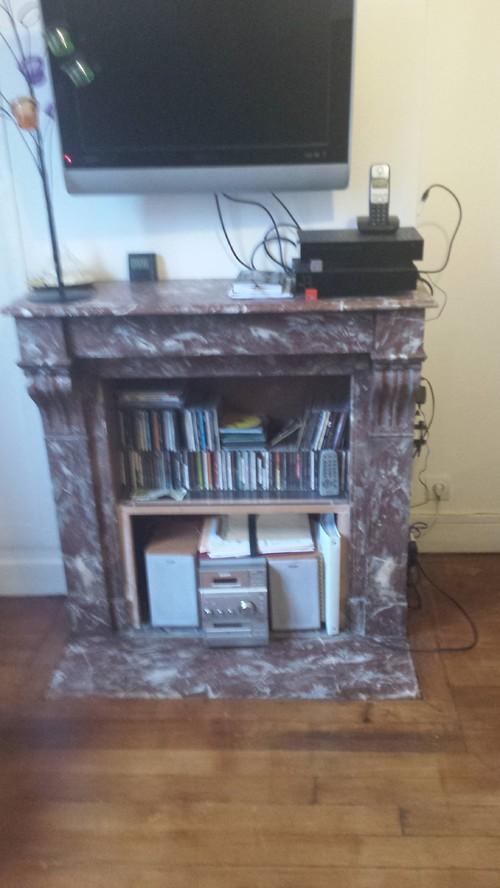 moderniser cheminée en marbre