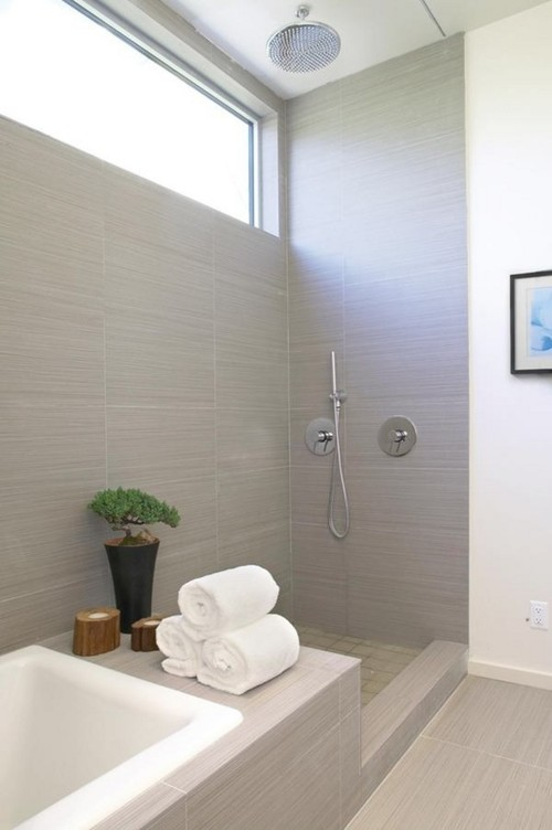 should i use glass or recessed curtain track for this shower?