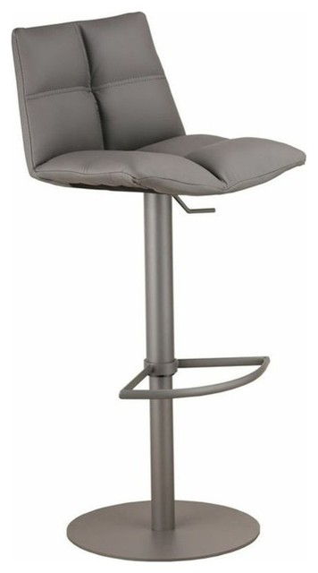 Roma Adjustable Brushed Stainless Steel Barstool