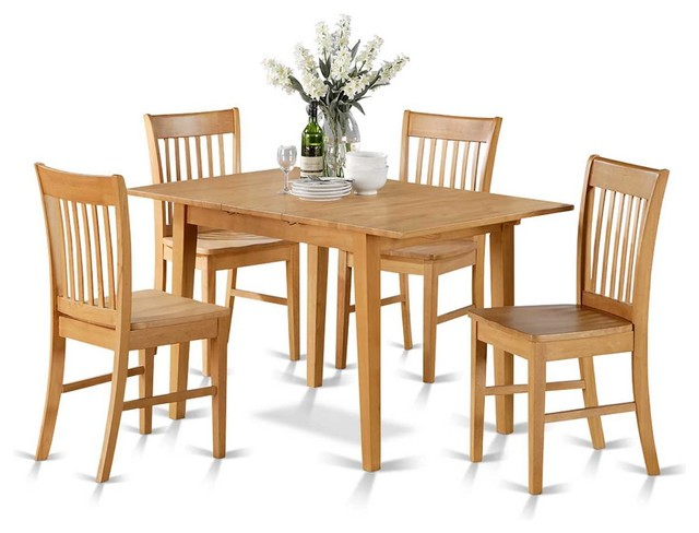 East West Norfolk 5 Piece 54 Quot X32 Quot Rectangular Dinette Set