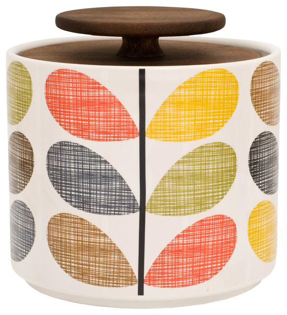 exceptional Designer Kitchen Storage Containers #3: Orla Kiely Multicolor Stem Storage Jar contemporary-kitchen-canisters-and- jars