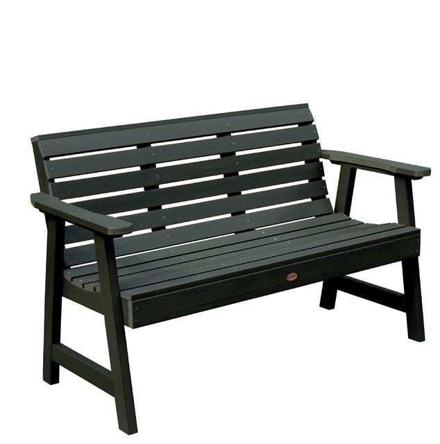 Contemporary Outdoor Benches: Weatherly Garden Bench