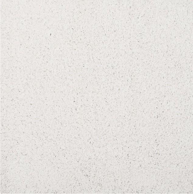 Enyssa Solid Shag Area Rug, Ivory White, 8&x27;x10&x27;.