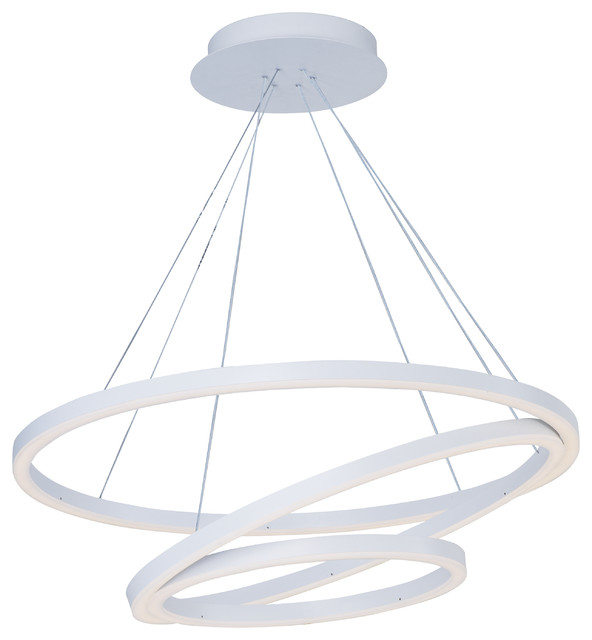 Cirque Entry Foyer Pendant Matte White 315